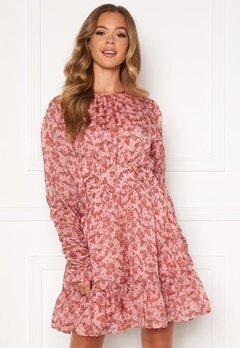 byTiMo Soft Organza Mini Dress 1104- Pink Flowers Bubbleroom.se