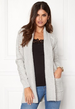 New Look Cable Cardigan Pale Grey Bubbleroom.fi