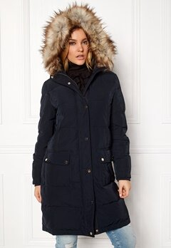 VILA California Down Coat Dark Navy Bubbleroom.no