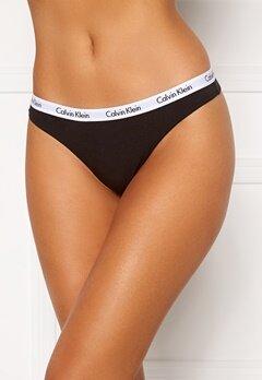 Calvin Klein 3P Thong 001 Black Bubbleroom.se