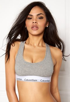 Calvin Klein CK Cotton Bralette 020 Grey Heather Bubbleroom.se