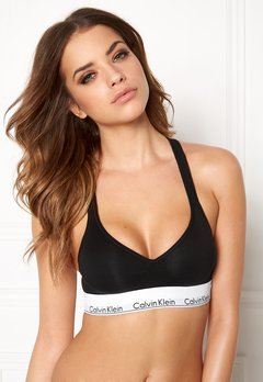 Calvin Klein CK Cotton Bralette Lift 001 Black Bubbleroom.se