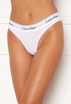 Calvin Klein CK Cotton Thong 100 White Bubbleroom.se