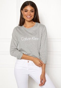 Calvin Klein CK L/S Crew Neck Grey Heather Bubbleroom.se