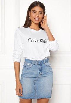 Calvin Klein CK L/S Crew Neck 100 White Bubbleroom.se
