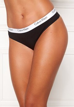 Calvin Klein CK One Cotton Thong Black Bubbleroom.se