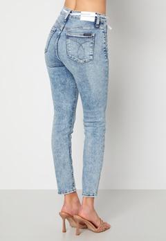 Calvin Klein Jeans High Rise Skinny Ankle 1AA Denim Light Bubbleroom.se