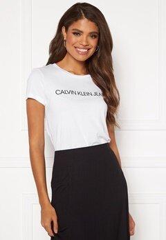 Calvin Klein Jeans Instit L Slim Fit Tee 112 Bright White Bubbleroom.se