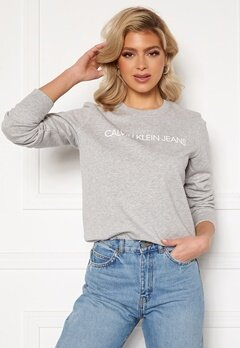 Calvin Klein Jeans Institutional Core Logo CN 038 L Grey Heather Bubbleroom.se