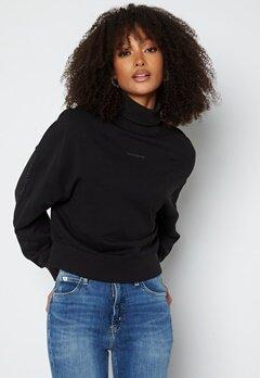Calvin Klein Jeans Logo Trim Roll Neck BEH Ck Black bubbleroom.se
