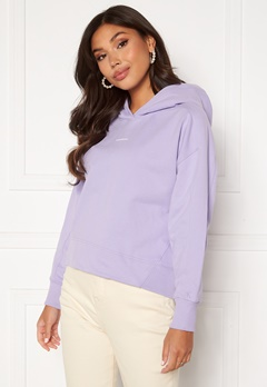 Calvin Klein Jeans Micro Branding Hoodie V0K Palma Lilac Bubbleroom.se