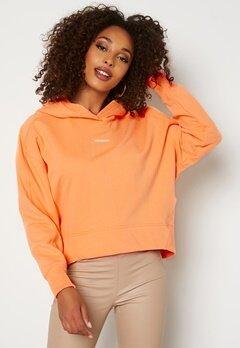 Calvin Klein Jeans Micro Branding Hoodie SFX Crushed Orange Bubbleroom.se