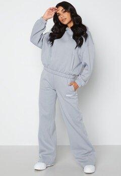 Calvin Klein Jeans Micro Flock Jog Pants PS8 Marble Grey bubbleroom.se