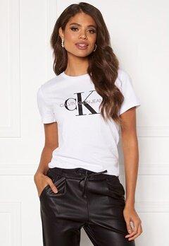 Calvin Klein Jeans Monogram Regular Fit Tee 112 Bright White Bubbleroom.se