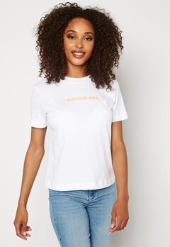 Calvin Klein Jeans Shrunken Institutional T YAF Bright White Bubbleroom.se