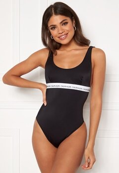 Calvin Klein Open Back One Piece BEH PVH Black Bubbleroom.se