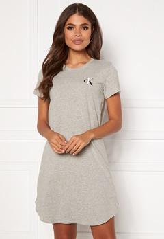 Calvin Klein S/S Nightshirt 020 Grey Heather Bubbleroom.se