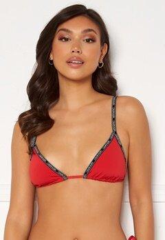 Calvin Klein Triangle Bikini Top XMK Rustic Red Bubbleroom.se