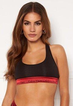 Calvin Klein Unlined Bralette 98G Black_Red Gala W Bubbleroom.se