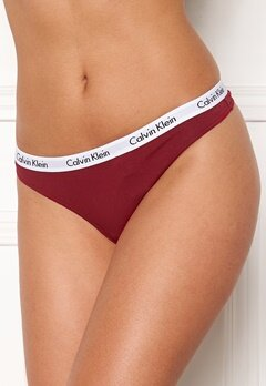 Calvin Klein Thong 3-pack Black/Emberblaze/Grö Bubbleroom.se