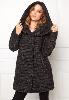 VILA Cama Favored Coat Black/Grey mel. Bubbleroom.se
