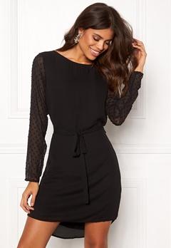 OBJECT Cameron L/S Dress Black Bubbleroom.se