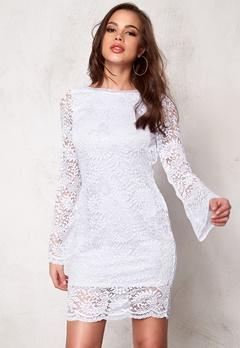 VERO MODA Celeb Mini Lace Dress Bright White Bubbleroom.no