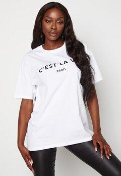 AX Paris Cest La Vie T-shirt White bubbleroom.se