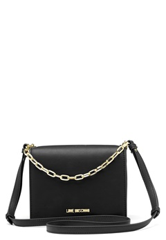 Love Moschino Chain Crossbody Bag 00B Black/Gold Bubbleroom.se