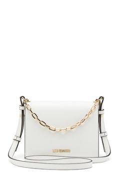 Love Moschino Chain Crossbody Bag 100 White Bubbleroom.se