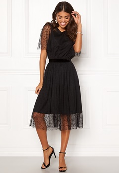 Y.A.S Charlotte SS Midi Dress Black Bubbleroom.se