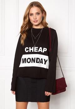 CHEAP MONDAY Coach Block Logo Sweat Black Bubbleroom.no