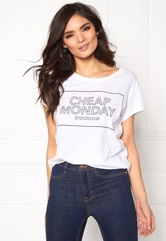 CHEAP MONDAY Have Tee White Bubbleroom.no
