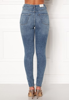 CHEAP MONDAY High Spray Cut Off Jeans Blue Bubbleroom.se