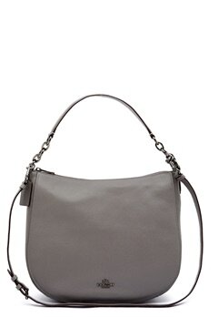 COACH Chelsey Leather Bag DKHGR Heather Grey Bubbleroom.se