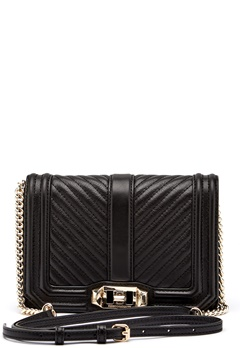 Rebecca Minkoff Chevron Quilted Small Bag Black Bubbleroom.se