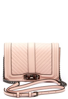 Rebecca Minkoff Chevron Quilted Small Bag Soft Blush Bubbleroom.se