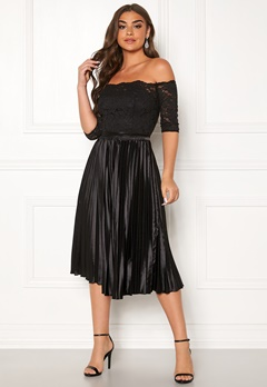 Chi Chi London Anna-Marie Bardot Dress Black Bubbleroom.se