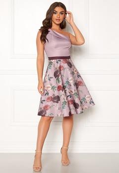 Chi Chi London Ardelle Floral Dress Mink Bubbleroom.se