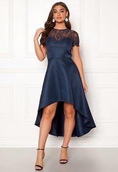 Chi Chi London Jayda High Low Dress Navy Bubbleroom.se