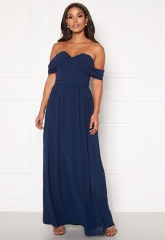 Chi Chi London Laine Maxi Dress Navy Bubbleroom.se