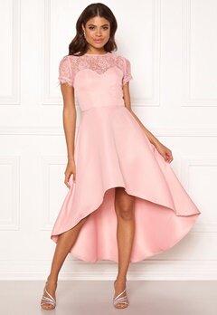 Chi Chi London Molly High Low Dress Mink Bubbleroom.se