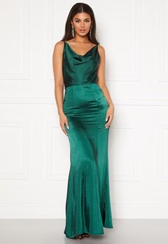 Chi Chi London Molly Mae Satin Dress Green Bubbleroom.se