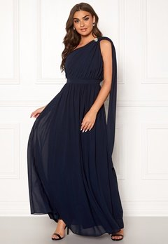 Chi Chi London Petra One Shoulder Dress Navy Bubbleroom.se