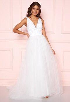 Chi Chi London Tremaine Lace Dress White Bubbleroom.se