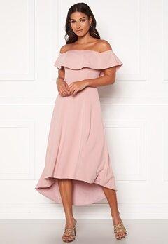 Chi Chi London Wanda Bardot Dress Mink Bubbleroom.se