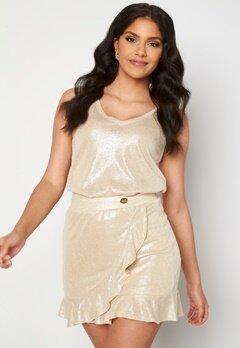 Chiara Forthi Abrienne glitter skirt Beige / Gold bubbleroom.se