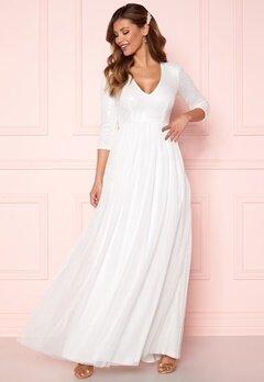 Chiara Forthi Admirante sparkling gown White Bubbleroom.se