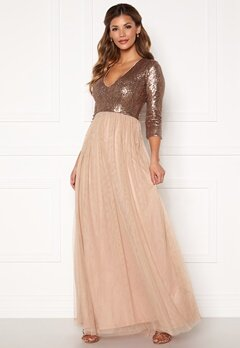 Chiara Forthi Admirante sparkling gown Rose gold Bubbleroom.se