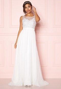 Chiara Forthi Alina Gown White Bubbleroom.se